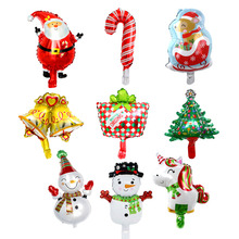 100pcs/lot Christmas foil balloons merry globos air ballon inflatable party decoration classic toys gifts