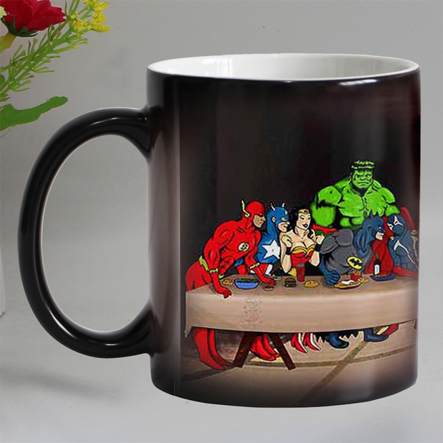 newest design special last supper color changing coffee mug heat