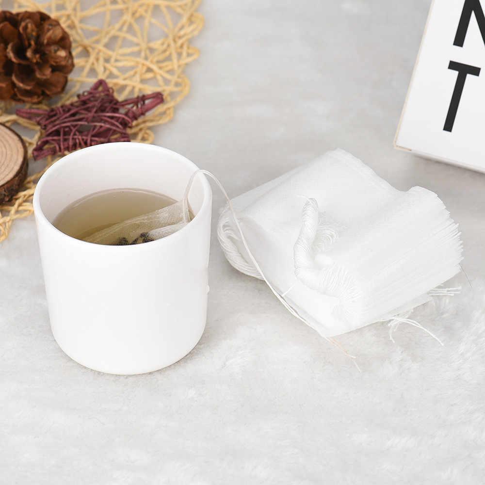 100 шт пустые чайные пакетики, нетканые струнные чайные церемонии, тепловое уплотнение, фильтровальная бумага, травяная Рассыпчатая молочная вода, питьевая чайная сумка