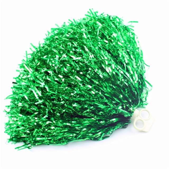 green Small cheer pom poms 5c64fbbde4060