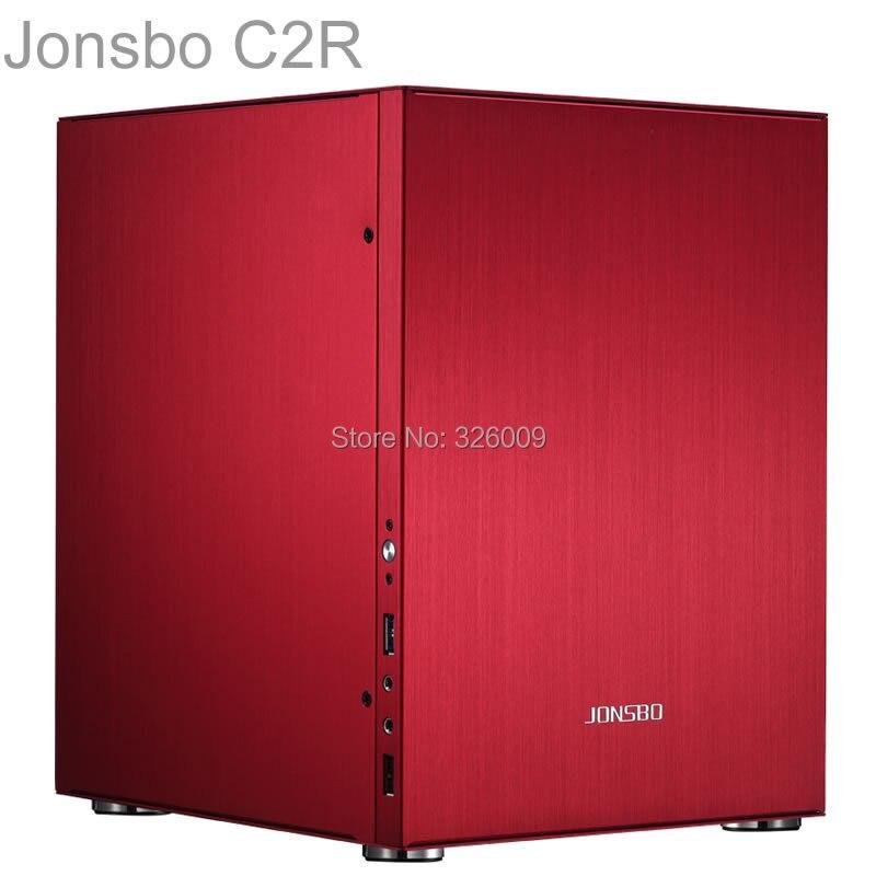 Jonsbo C2R C2 Red HTPC ITX Mini computer case in aluminum support 3 5 HDD USB3