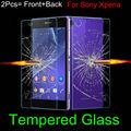 Front and Back Tempered Glass for Sony Z1 Z2 Z3 Z3 compact Z4 Z5 Compact Premium M4 M5 Screen Protector Explosion-Proof Film