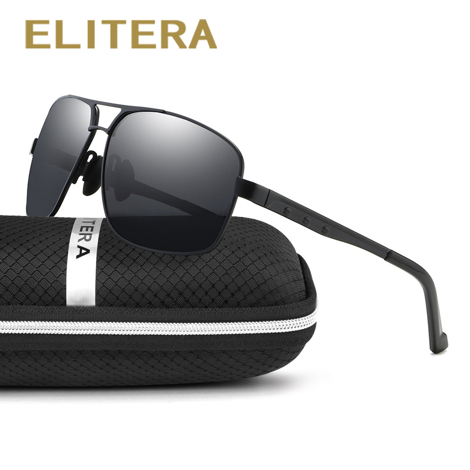 ELITERA Polarized Sunglasses Men New Arrival Brand Designer Sun Glasses UV With