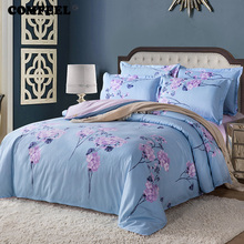 COMFEEL 3/4PCS Home Textile Comforter Bedding Sets Spring Duvet Cover King Size Bedding Set Cotton Flower Luxury Quilt Covers