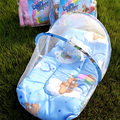 Baby Crib With Mosquito Netting Cute Dot Lace Portable Baby Bed 95*50cm Kids Bedding Folding Baby Crib With Pillow Cot Kawaii