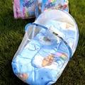Cuna Con Mosquitero de Encaje Lindo Punto de Bebé Portátil cama 95*50 cm Kids ropa de Cama Plegable Cuna Con Almohada Cuna Kawaii