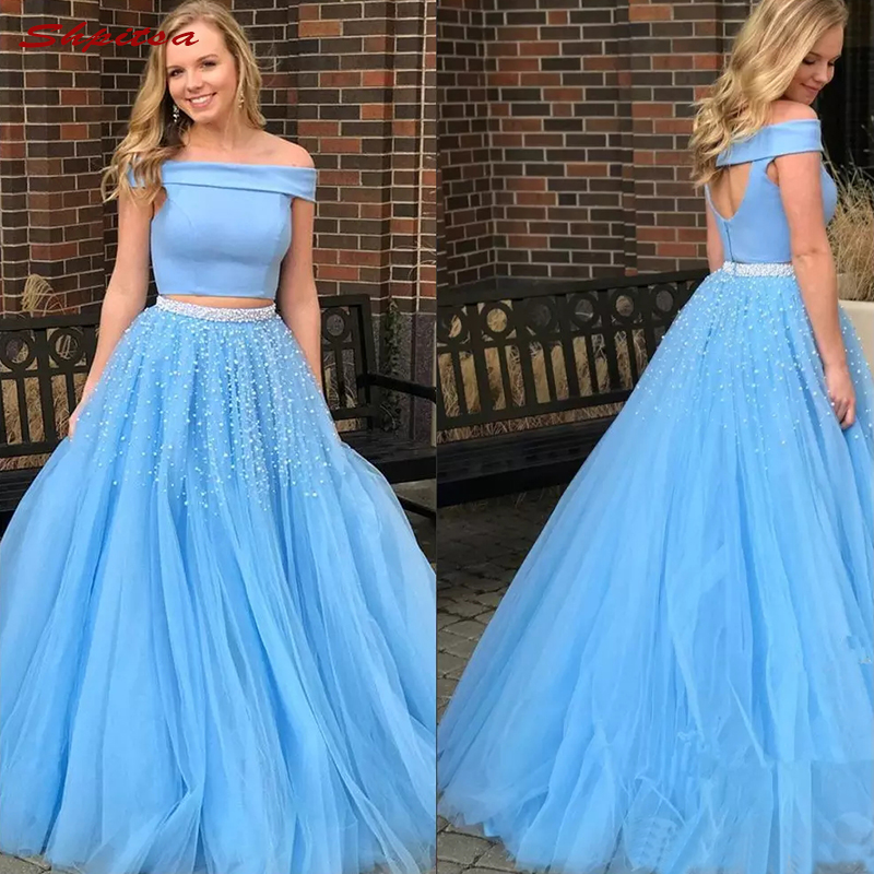 Long Mother Of The Bride Dresses For Weddings Plus Size Sky Blue Evening Gowns Groom Godmother 2018