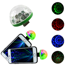 New USB LED Stage Light Music Sound Activated DC 5V Portable RGB LED Crystal Color Lights for Home Entertainment Party Lighting