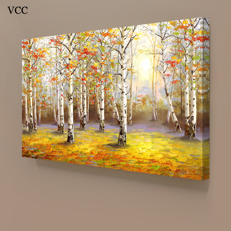 Online Shop VCC Trees Wall Art Canvas Painting Picture Home ...