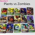 [Bainily] 100 unids/set Tarjetas de Plantas Zombies Plants vs Zombies Figuras de Acción de Guerra Recoger Juego Tarjeta de Guisante Tirador Girasol los niños de Juguete