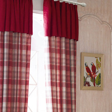 Luxury Scotland Curtains For Living Room Thick Plaid Drapes Bedroom Dinning Window Red