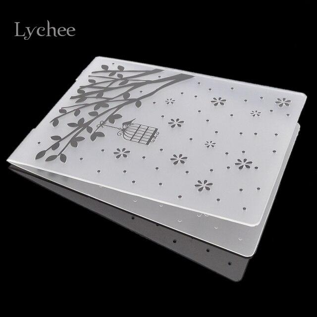 Lychee Kunststoff Prägung Ordner Für Sammelalbum DIY Album Karte ...