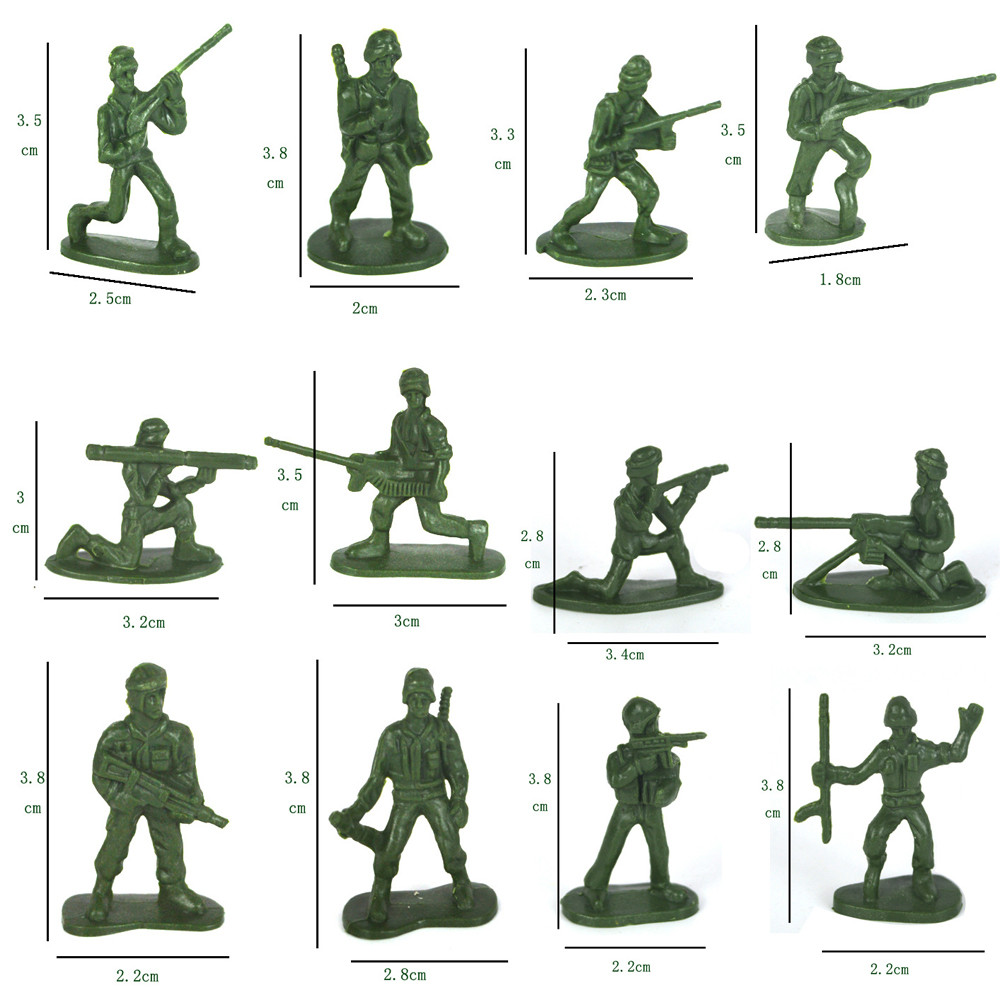Biology Shop For Cheap 100 Pcs Military Playset Plastic Toy Soldiers Army Men 3.8cm Figures Made Of High Quality Plastic And Durable Wide Selection;