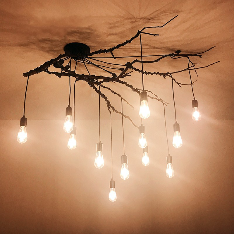 Ceiling Lights Lights & Lighting Cheap Price Vintage Retro Ceiling Lights Loft Spider Lustre Diy E27 Adjustable Living Room Lighting For Kitchen Restaurant Fixture Lights And To Have A Long Life.