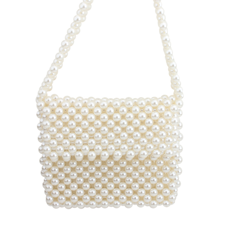 pearl bag beaded crystal shoulder bag women wedding party vintage handbags 2019 luxury brand evening bag
