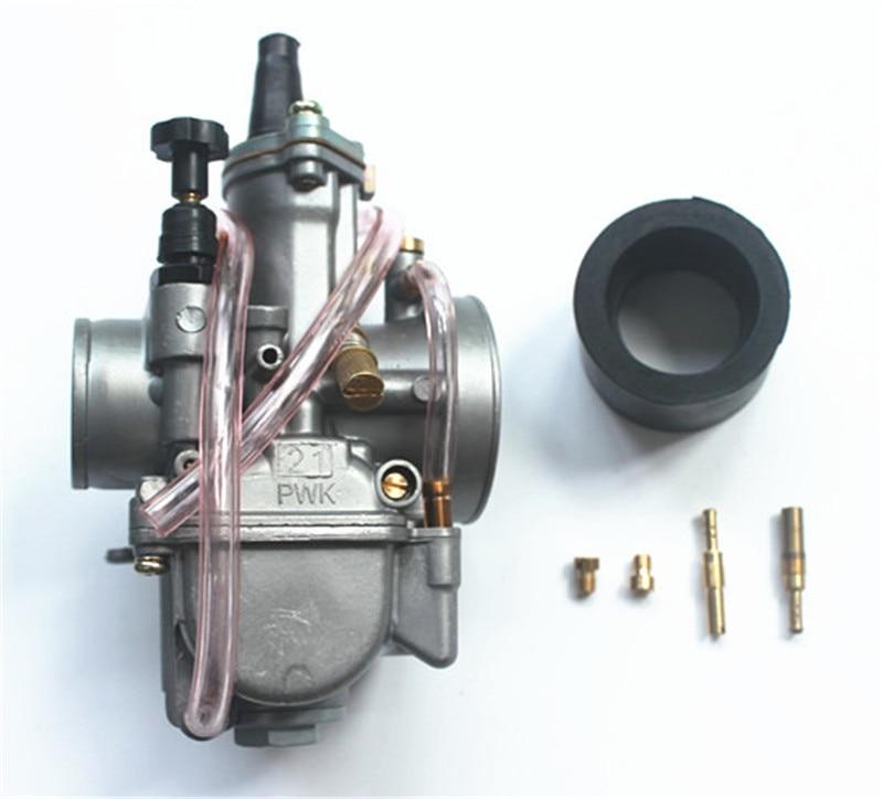 oko 21mm carburetor pwk 21 flat slide kit universal 2 4 stroke 80cc 100cc 125cc fit dirt pit