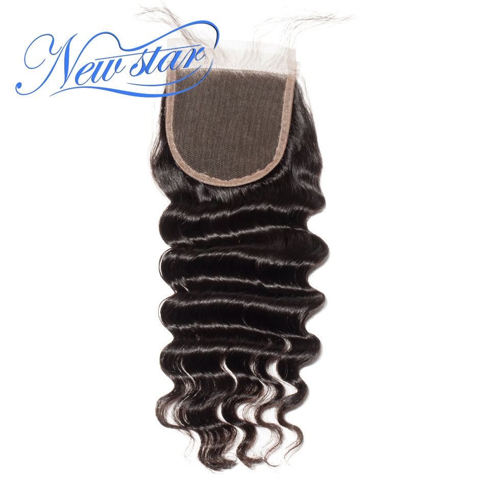 Closures Human-Hair Hairline Lace Free-Part Swiss Virgin Natural Brazilian 4x4 New Star