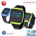 Плавать/Режим Езды Bluetooth Smart Watch Музыка Contrl APP GPS Запустить/Скорость Показать PK Smartwatch Для android Fenix 3/Apple/f69/U8 Не