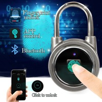 Bluetooth Fingerprint Padlock Mobile APP Control Smart Lock For Luggage Warehouse Dormitory Outdoor Activities