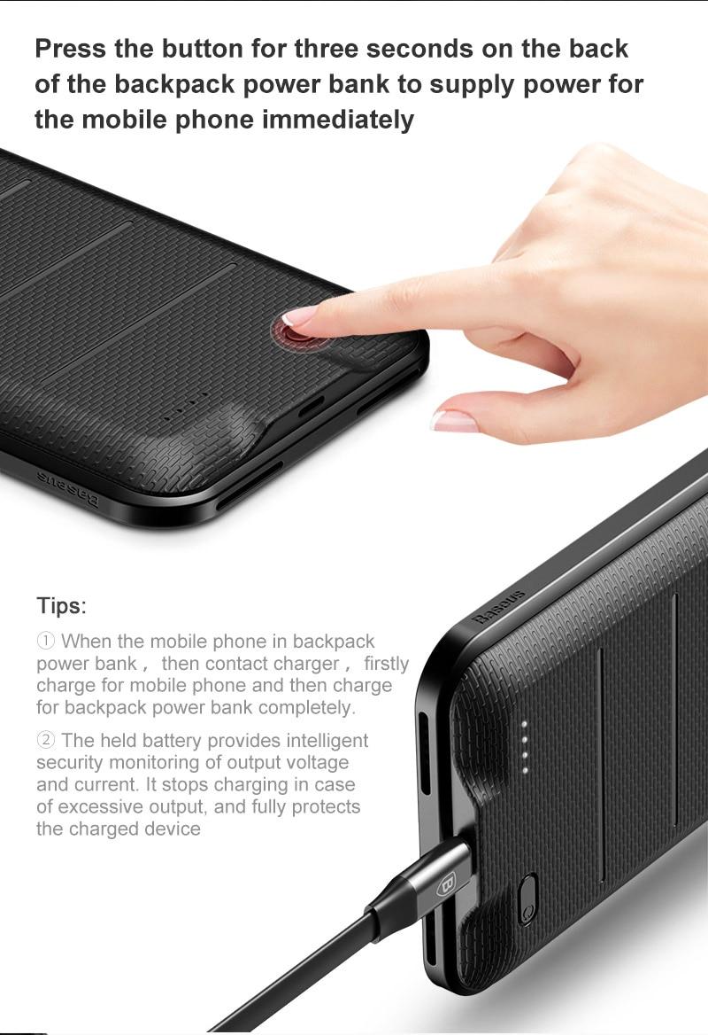 Baseus Smart Battery Case Dla iphone 7 8 6 6 s Przypadkach