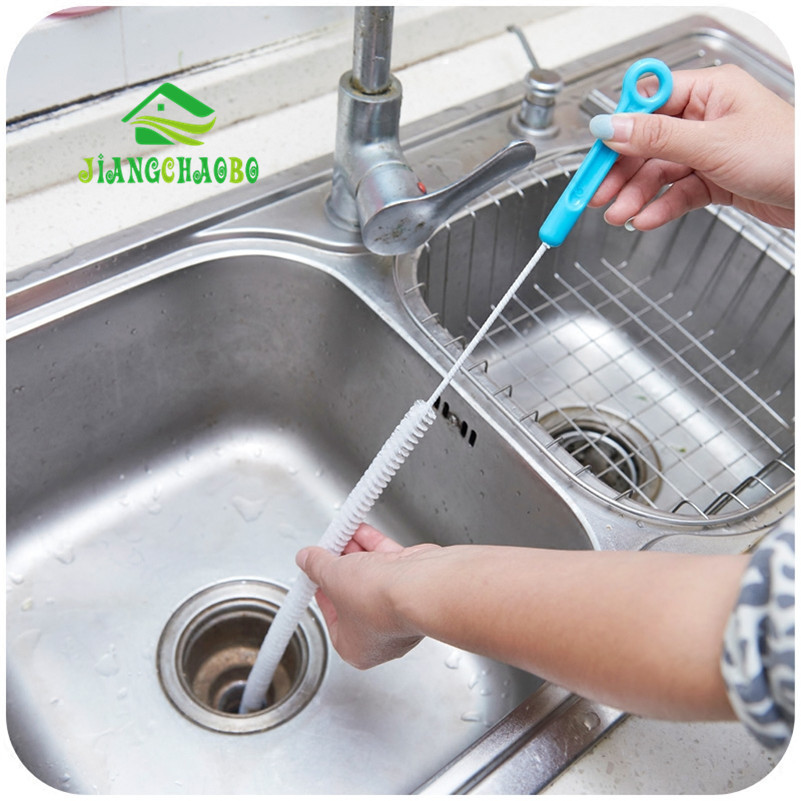 Kanalizacijos valymo šepetys, namų sulankstomos kriauklės vonios tualetas dugno vamzdžių gyvatės šepetys įrankiai kūrybingi vonios kambario virtuvės reikmenys