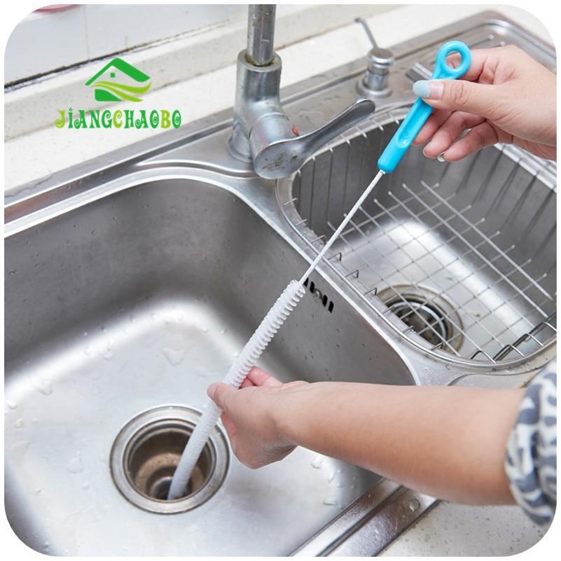 Rioolreinigingsborstel, Home Buigbare Sink Tub Toilet Baggerpijp Snake Brush Tools Creatieve Badkamer Keukenaccessoires