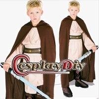Custom Made Star Wars Obi Wan Kenobi Jedi Costume Child Kids Unisex Cape Robe Cloak Hood