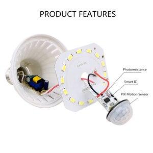 Image 3 - PIR hareket sensörlü LED Ampul E27 Lamba 5 W 7 W 9 W 110 V 220 V led ışık Indüksiyon Ampul Merdiven Koridor gece Işık Koridor Lambaları