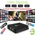 1 Ano 1150 + Francês Africano Europa Canais 4 K Android Caixa de IPTV 2g/16g S905 KII Pro Amlogic DVB-T2 DVB-S2 Wi-fi HDMI Set Top caixa