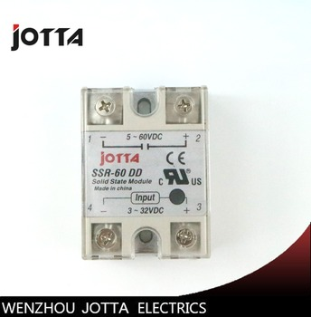 цена на SSR -60DD DC control DC SSR white shell Single phase Solid state relay 60A input 3-32V DC output 5~60V DC