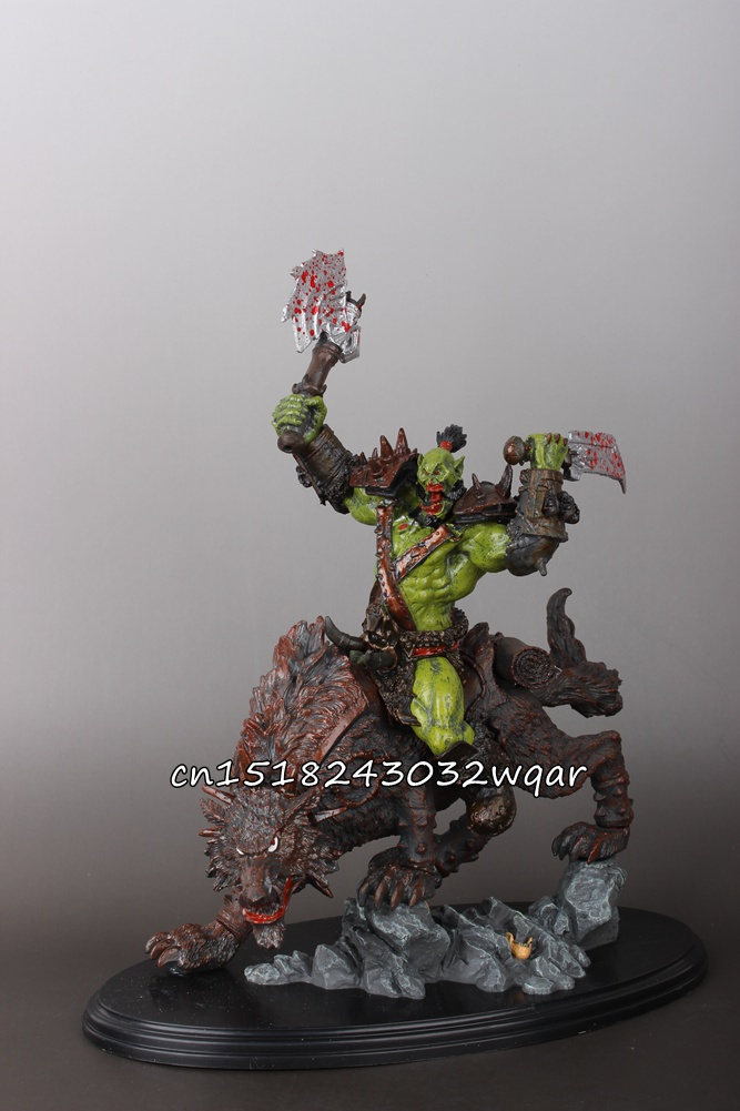 WOW World of Orc Statue Figure High Quality Wolf Rider 10 Toy Collectibles Model Doll 275 wow world of war rehgar orc dwarf warrior thargas anvilmar figure lot x2