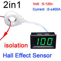 DC 50A 100A 200A 400A Hall Volt meter Ammeter Battery Monitor Digital LED Voltage current Charge Discharge isolated 12v 24v Car