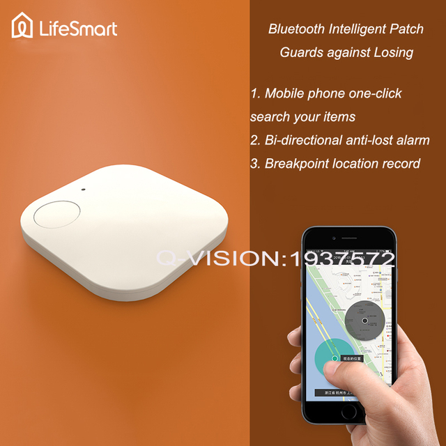 Lifesmart Bluetooth 4.0 Intelligent Patch Anti-lose 10-20M Control Distance Bi-direction Alarm Wearable Device Smart Home Switch