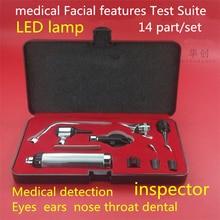 Медицинский пятилицевой анализатор ушей, ларингоскоп, зубы, зеркало, офтальмоскоп, оториноларингология, полная проверсветодиодный светильник