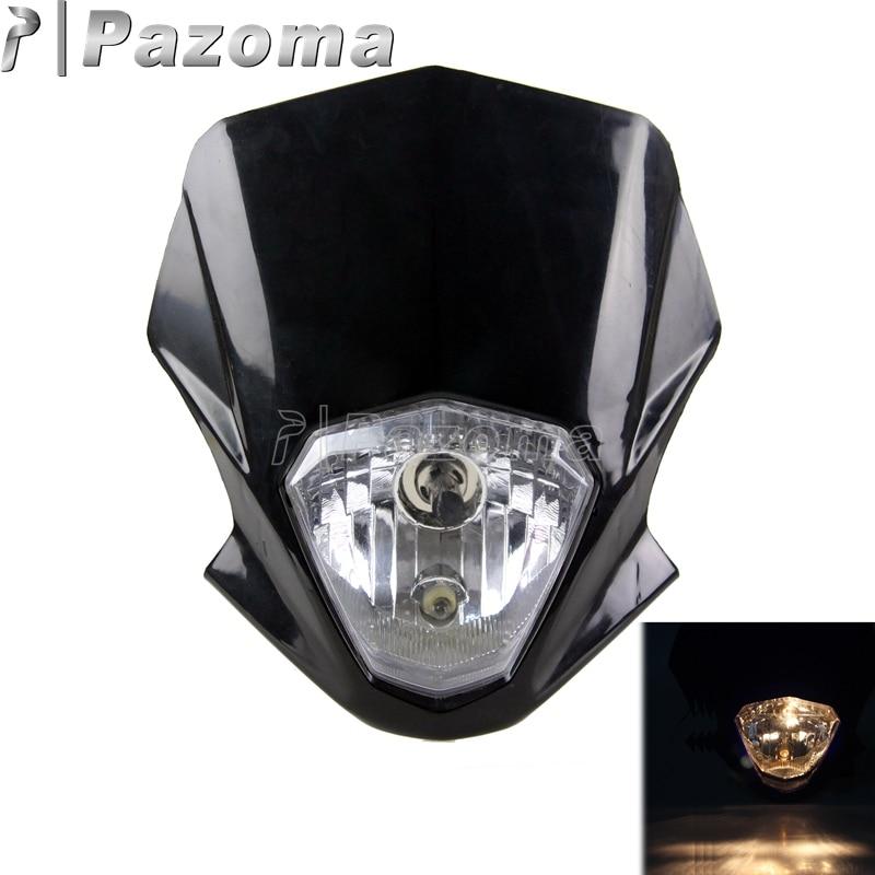 Pazoma Black LED Vision Headlights Street Fighter Bike
