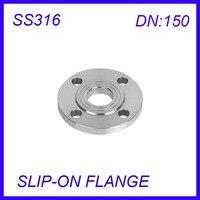 DN150 Stainless Steel SS316L RAISED FACE 4 Bolt SLIP ON FLANGE Industrial