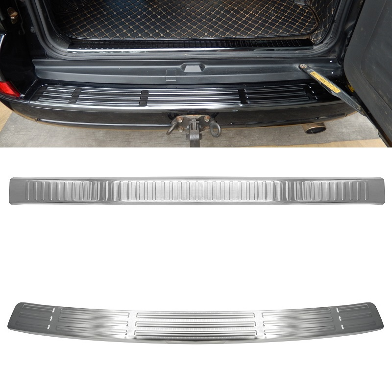 Stainless Steel rear bumper cargo step sill guard protective cover for Toyota Land Cruiser Prado J120
