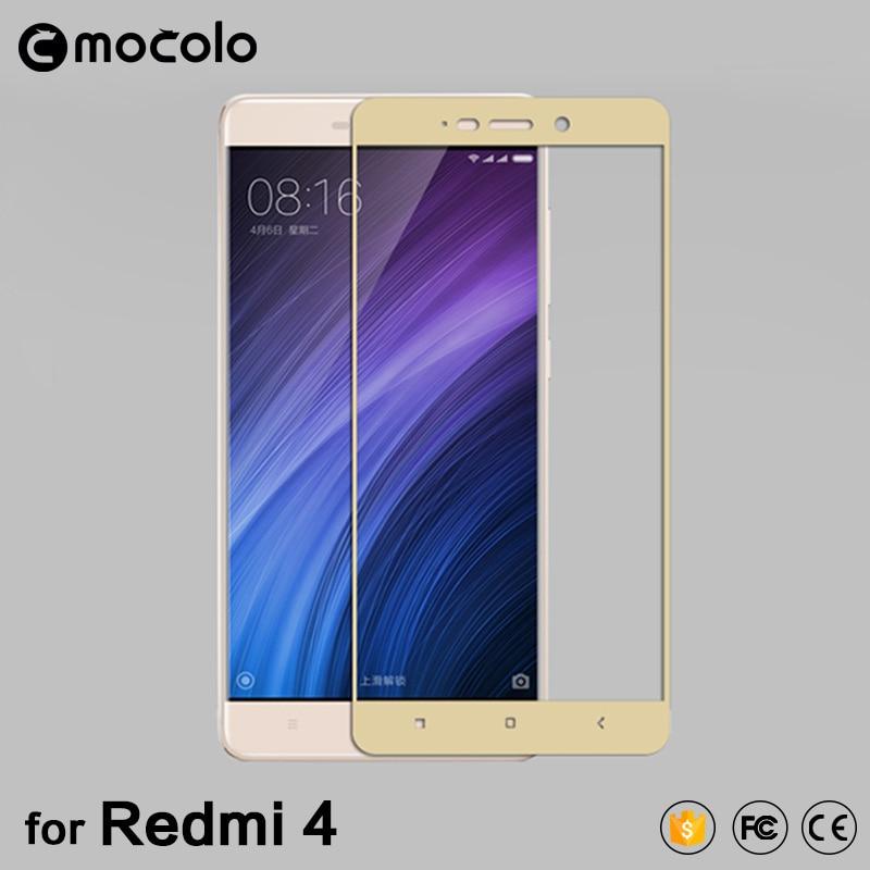 Mocolo xiaomi redmi 4 pro kaca tempered 2.5D penutup penuh kaca tempered Xiaomi Redmi 4 pro pelindung layar Redmi 4 prime kaca