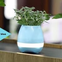New Smart LED Bluetooth Music Vase Speaker Real Plant Touch Sensing Flower Pot USB Charge Waterproof