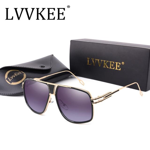 2018 Classic Brand men\'s designer Large frame sunglasses Vintage ...