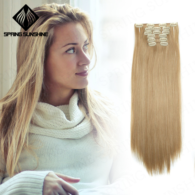 Spring Sunshine 22 140g Long Silky Straight 16clips In Hair
