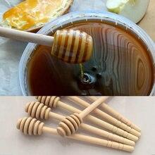2pc/1pc prático longo lidar com colher de mel madeira mistura vara dipper para pote de mel café leite chá suprimentos ferramentas de cozinha
