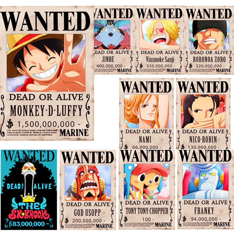 One Piece Anime Poster Wallpaper Monkey D Luffy 15 Billion