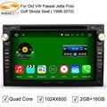 5.1.1 GreenYi Android 2 Din 7 ''Carro DVD para o Velho VW Jetta Passat B4 Polo BORA Golf 4 Radio GPS no Traço Wifi BT FM RDS 3G 4G