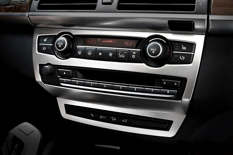 Garniture de couverture centrale de console centrale intérieure de style de voiture pour BMW X5 E70 2008 09 10 11 12 13