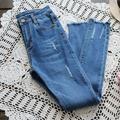 2017 agujeros de La Personalidad de Primavera versión Coreana de bolsillo color Sólido era delgada pantalones vaqueros niña mori