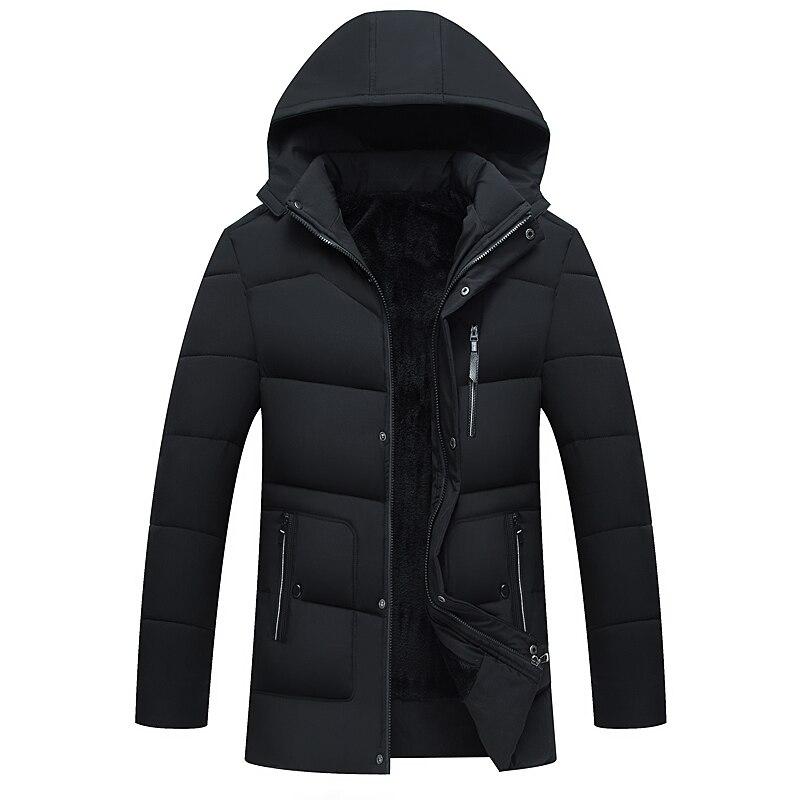 Hommes chapeau 2018 veste en duvet d'oie hommes hiver chaud manteaux hommes, vestes de mode, vestes en duvet longs manteaux