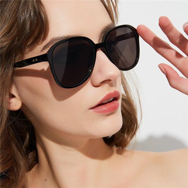 HBK 2019 New Fashion Brand Square Sunglasses Women Trendy Korean Oversized Candy Color Eyewear For Summer Vocation UV400