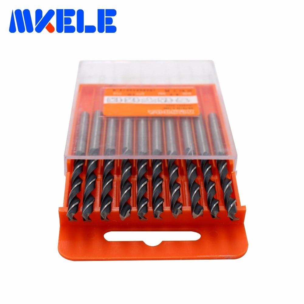 3.5mm 10pcs//box Mini Double Twist Drill HSS//high-speed Steel Woodworking Tool