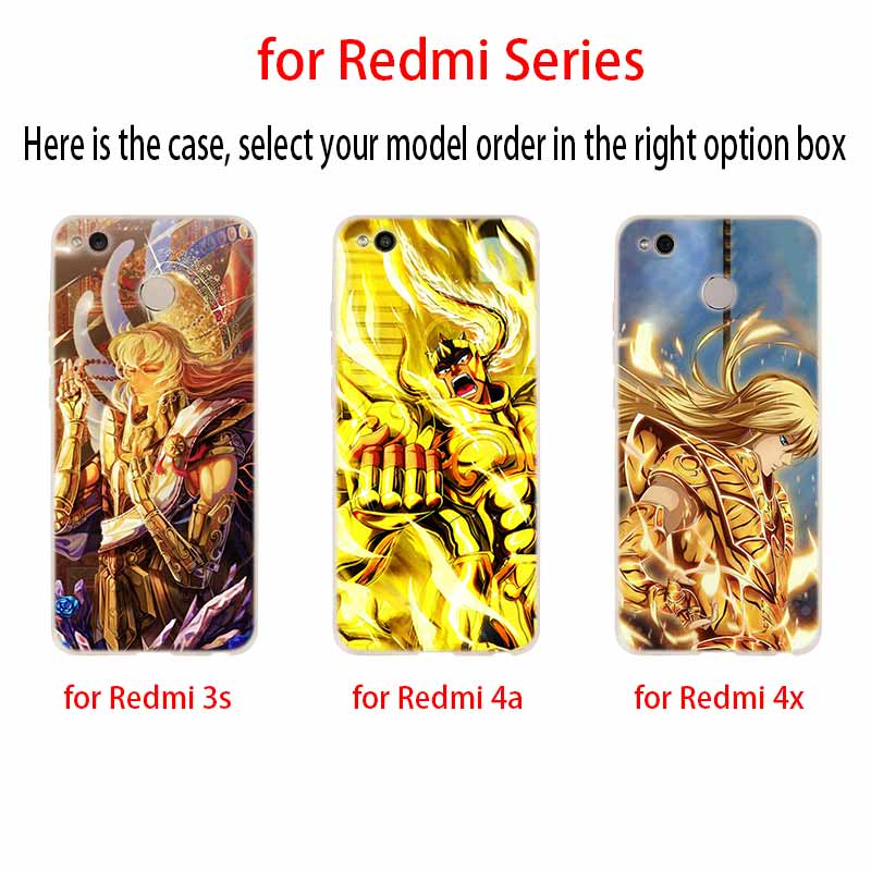 Image 2 - Saint Seiya Fashion Soft TPU Case Cover For Coque Xiaomi Redmi 8A 4A 5A 6A 4X 5 Plus 6 Pro Note 8 7 Pro 6 5Fitted Cases   -